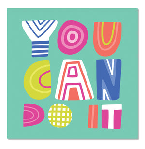You Can Do It Square Sticker