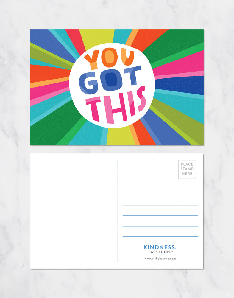 You Got This Colorful Postcards