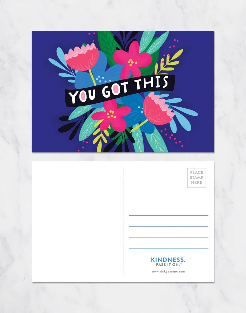 You Got This Flower Postcards