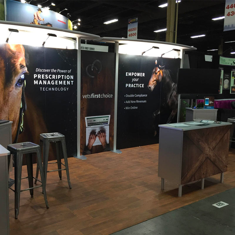 Vinyl Wood Grain Tile Trade show Booth Floor Vets First Choice