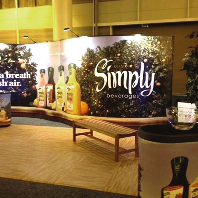 Designer Comfort Interlocking Tiles, Simply Beverages Booth