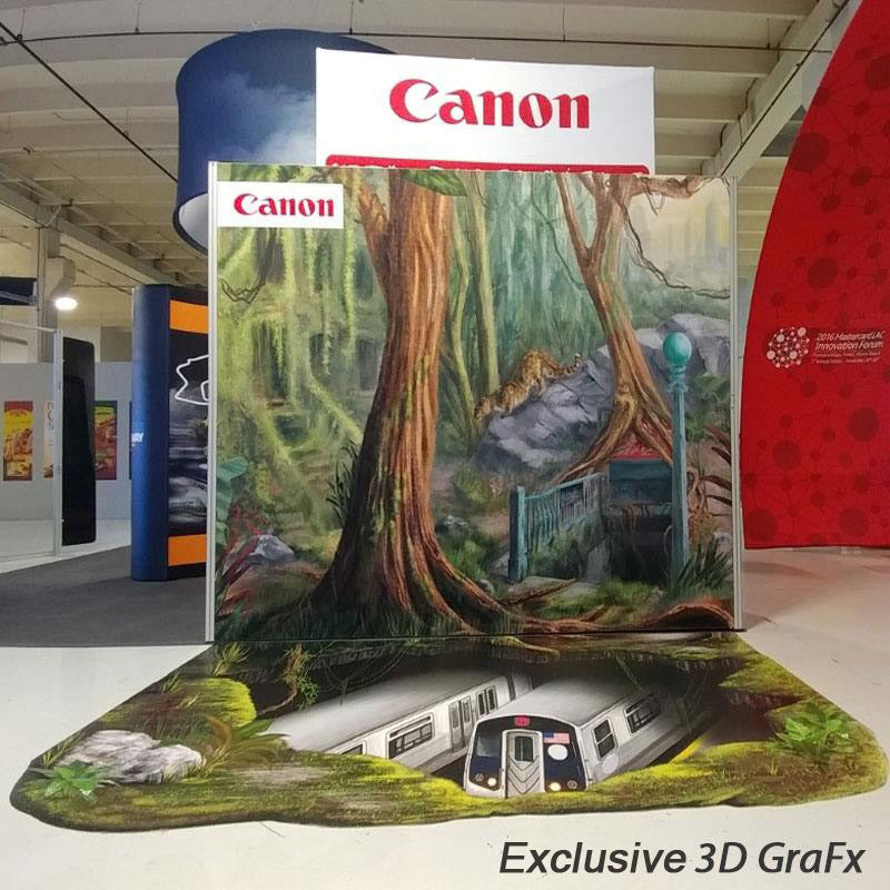 Printed Graphics Rollable Vinyl Flooring Canon Trade Show Booth