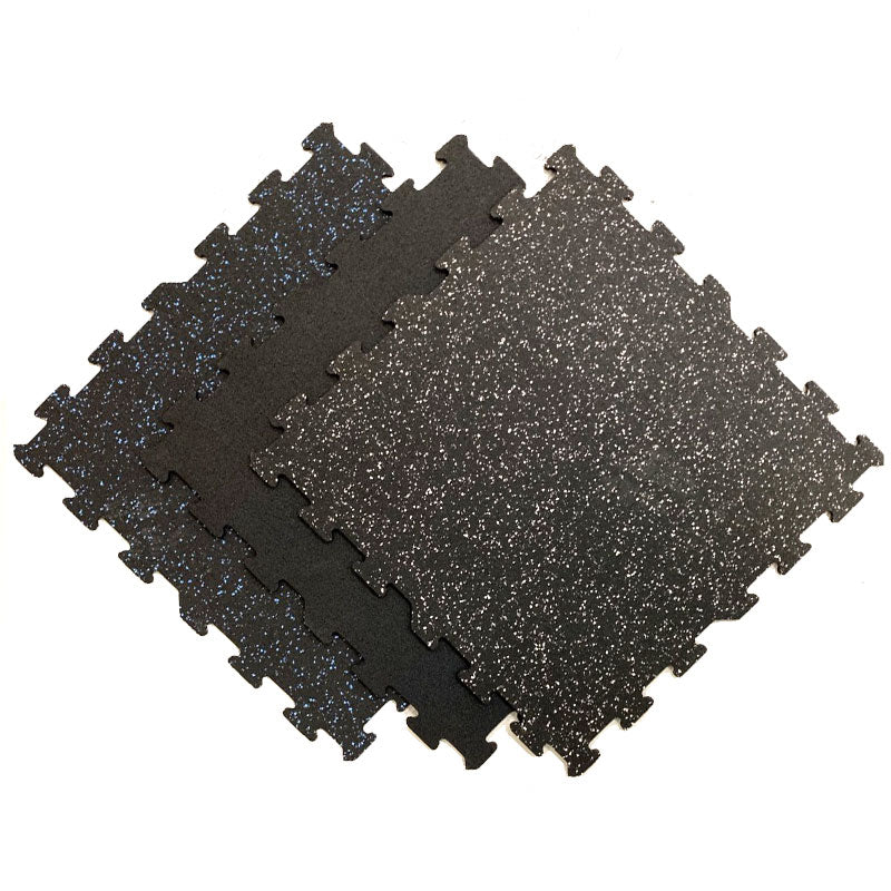 PCR Rubber-FlecksFloor Interlocking Tiles