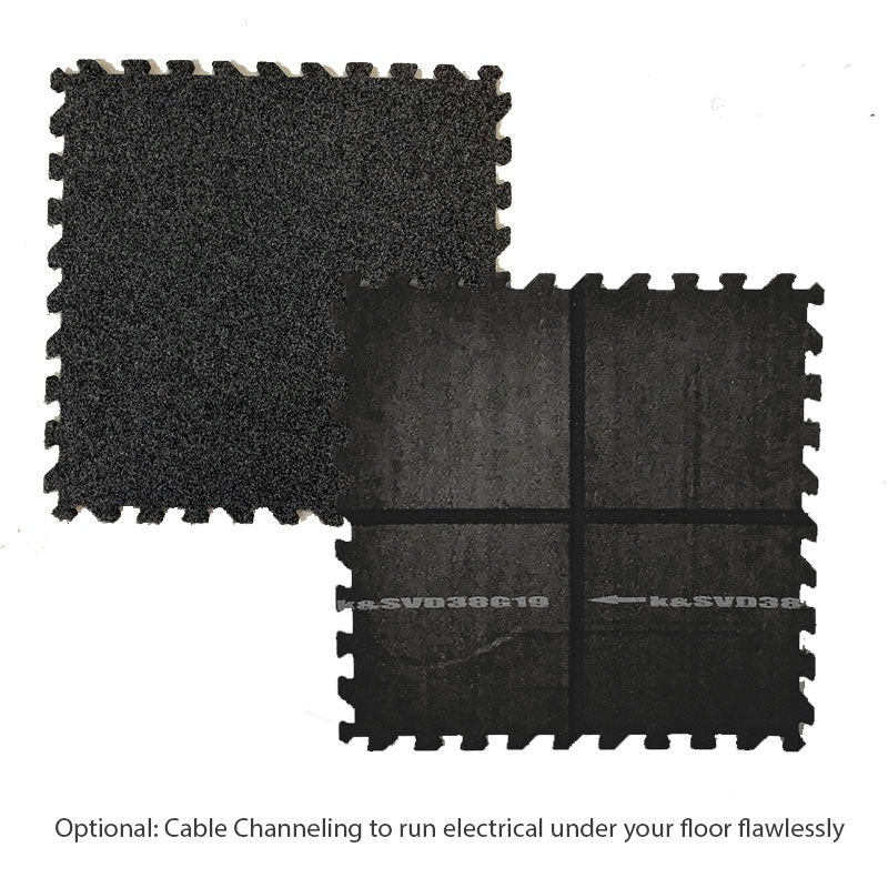 Plush Comfort Carpet Interlocking Flooring Tiles, electrical channeling