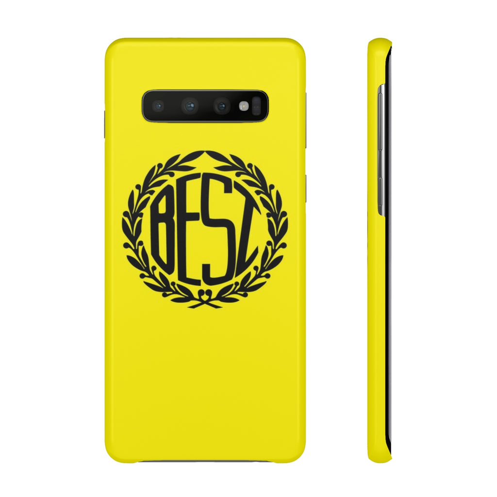 Best Crest Yellow Galaxy Case