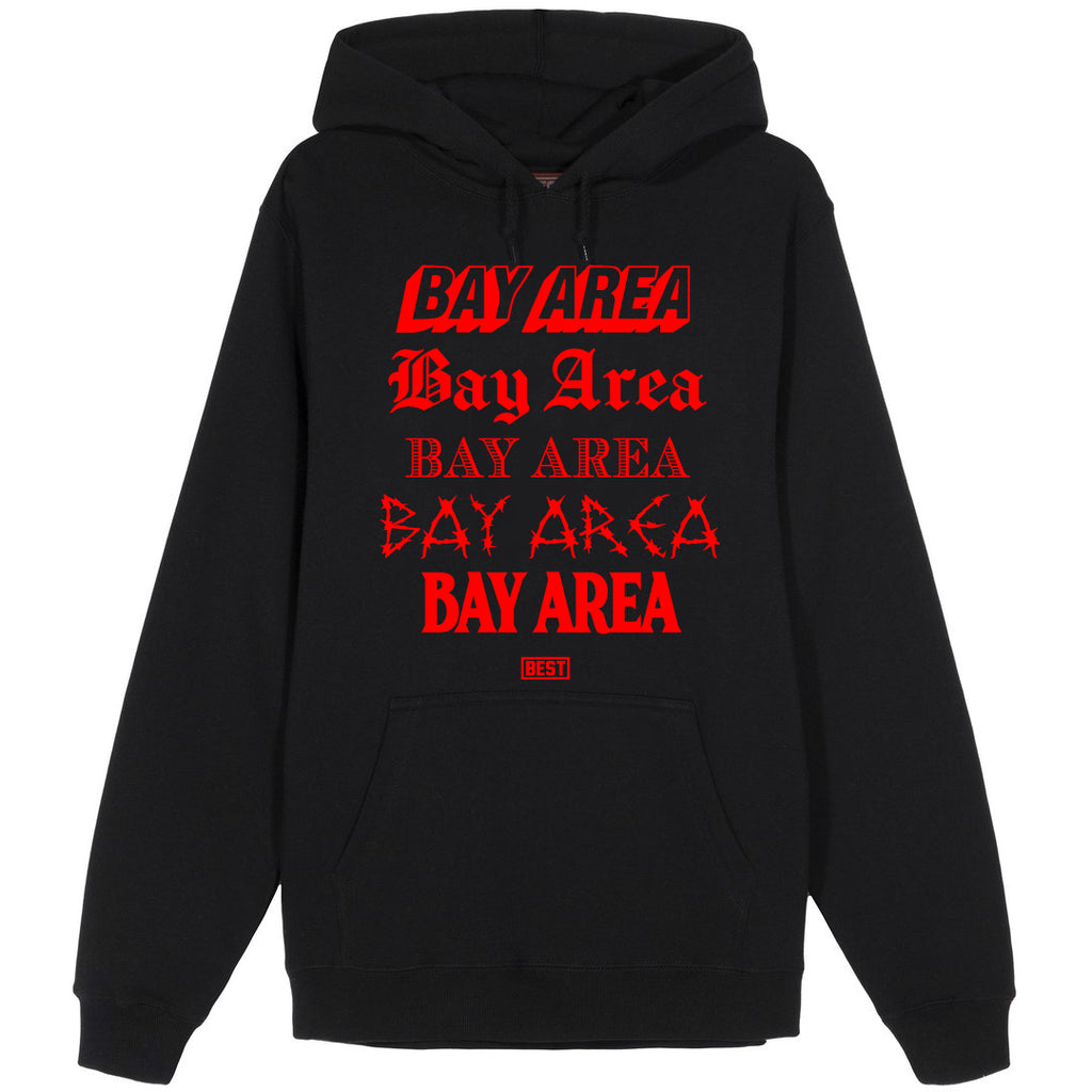 5 Shades of Bay Hoodie Red