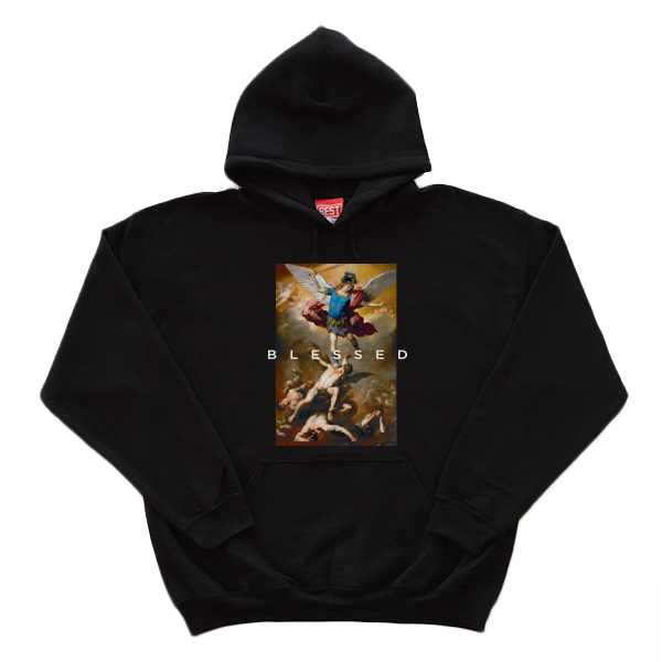 Blessed Angel Black Hoodie
