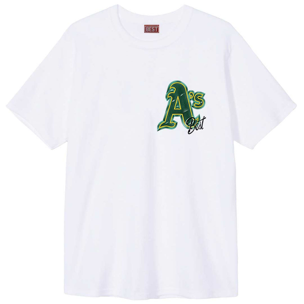 Oakland A's Airbrush Tee White