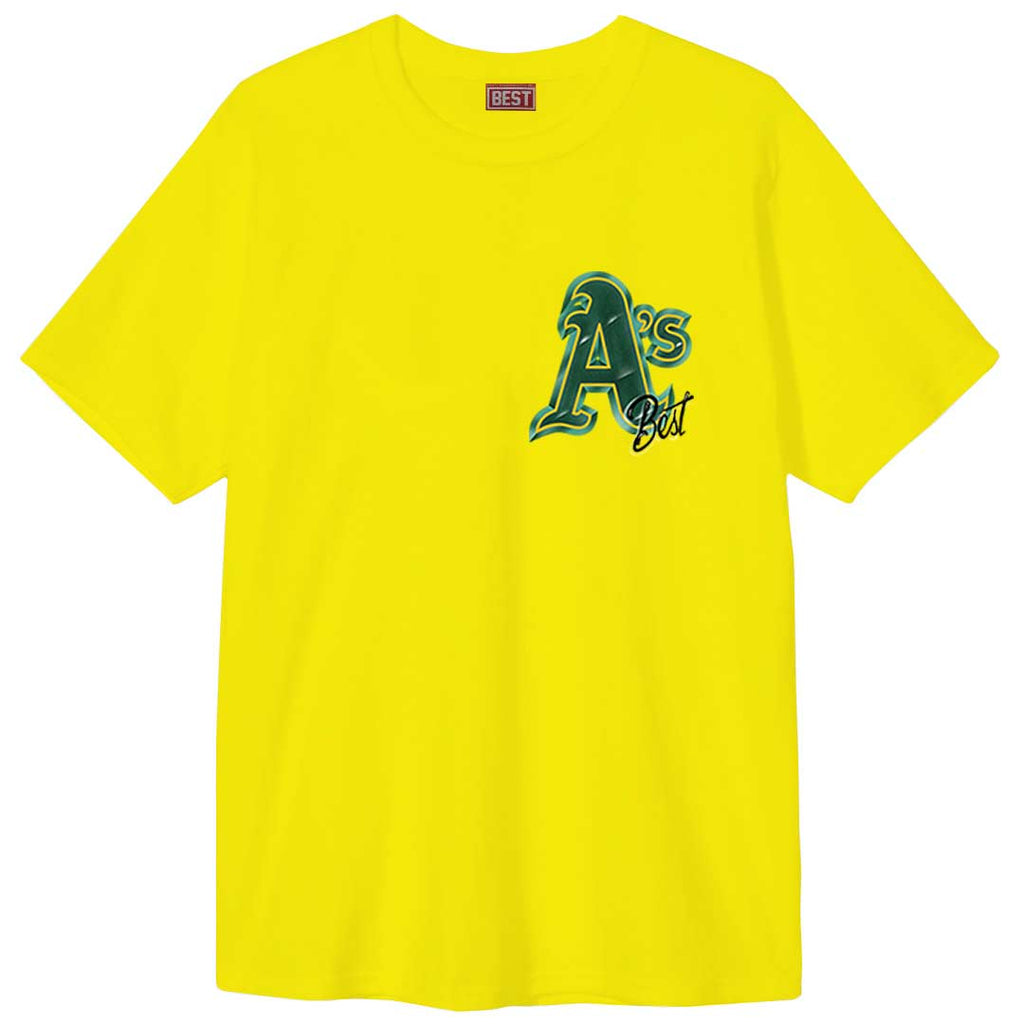 Oakland A's Airbrush Tee Yellow