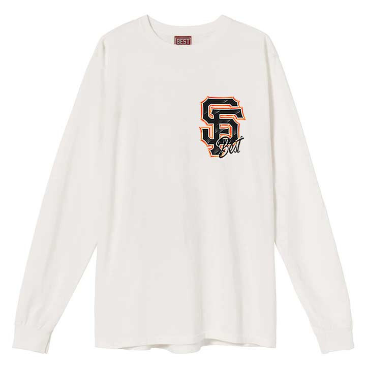 Airbrush Giants Long Sleeve Tee White