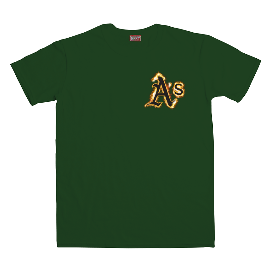 A's Fire Forest Tee