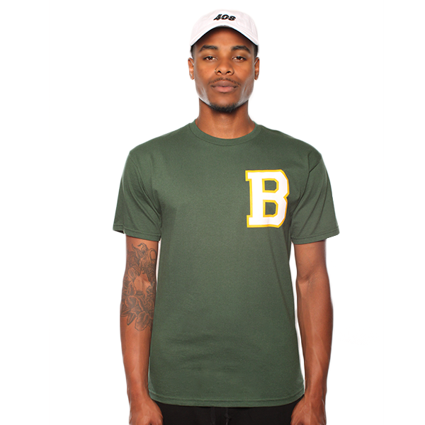 Oakland Letterman B Green Tee