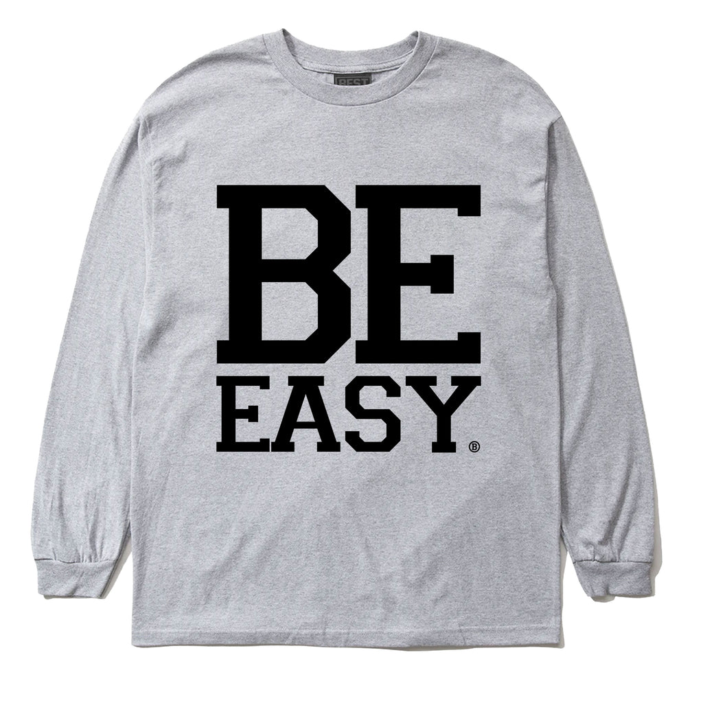 (2008 OG CLASSIC) BE EASY LONG SLEEVE TEE ATHLETIC GRAY