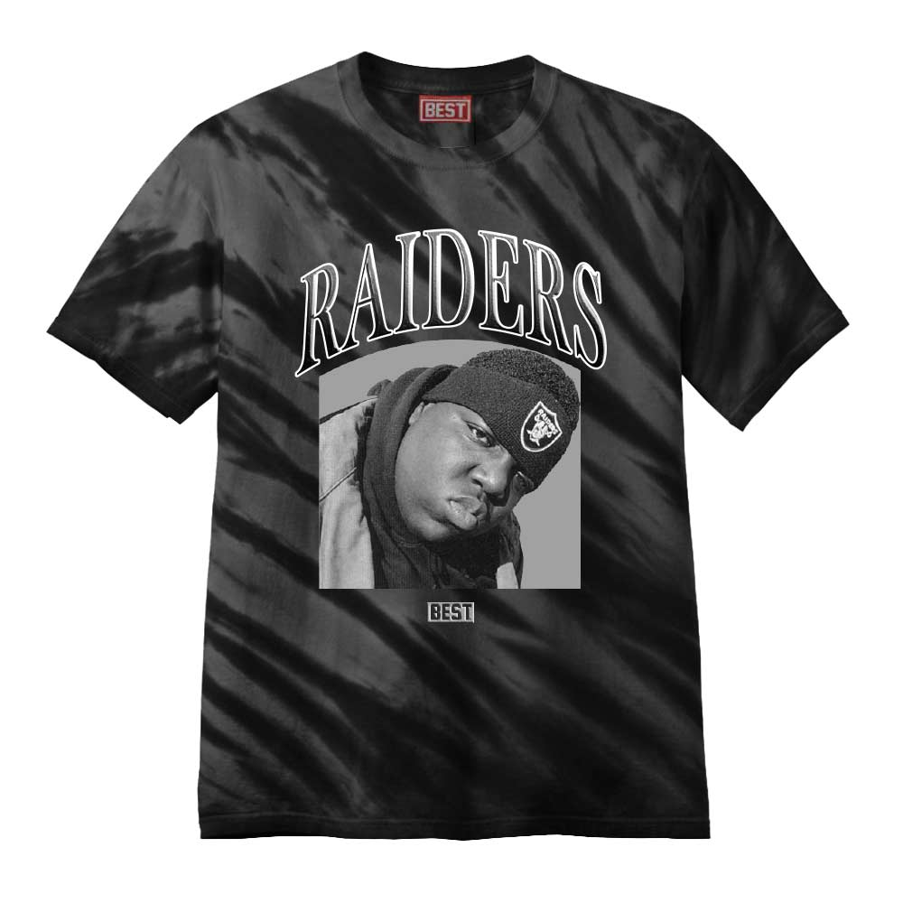 Biggie Raider Tee Tye Dye Black
