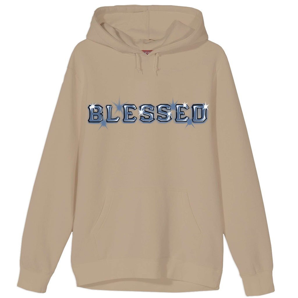 Blessed Old Block Airbrush Sand Hoodie