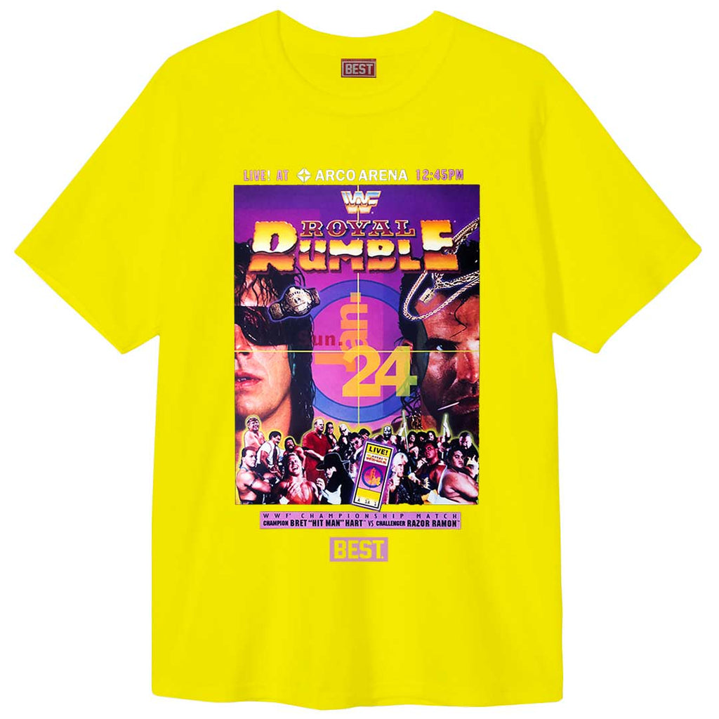 Bret and Razor Rumble Tee Yellow