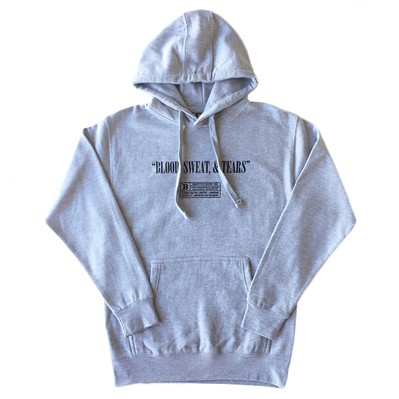 Blood Sweat Tears Grey Hoodie