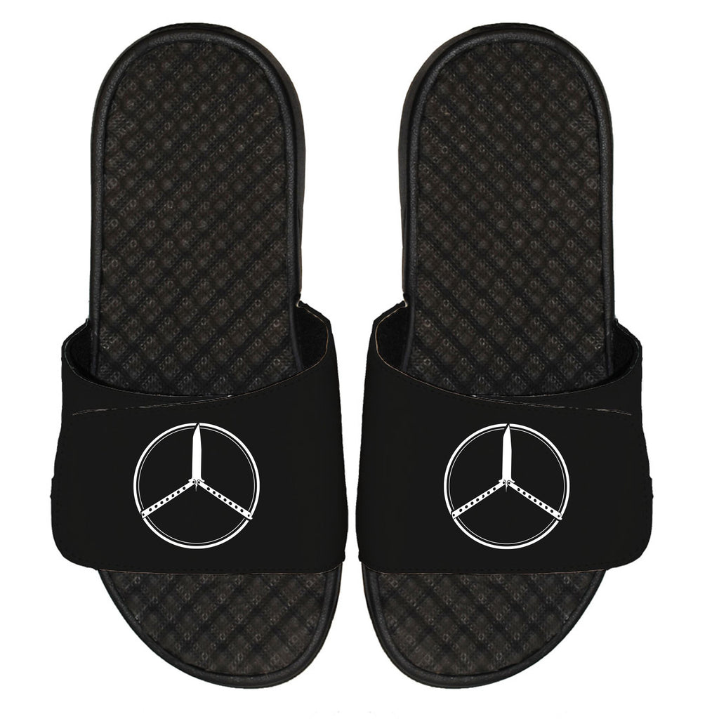 Butterfly Benz Black Sliders