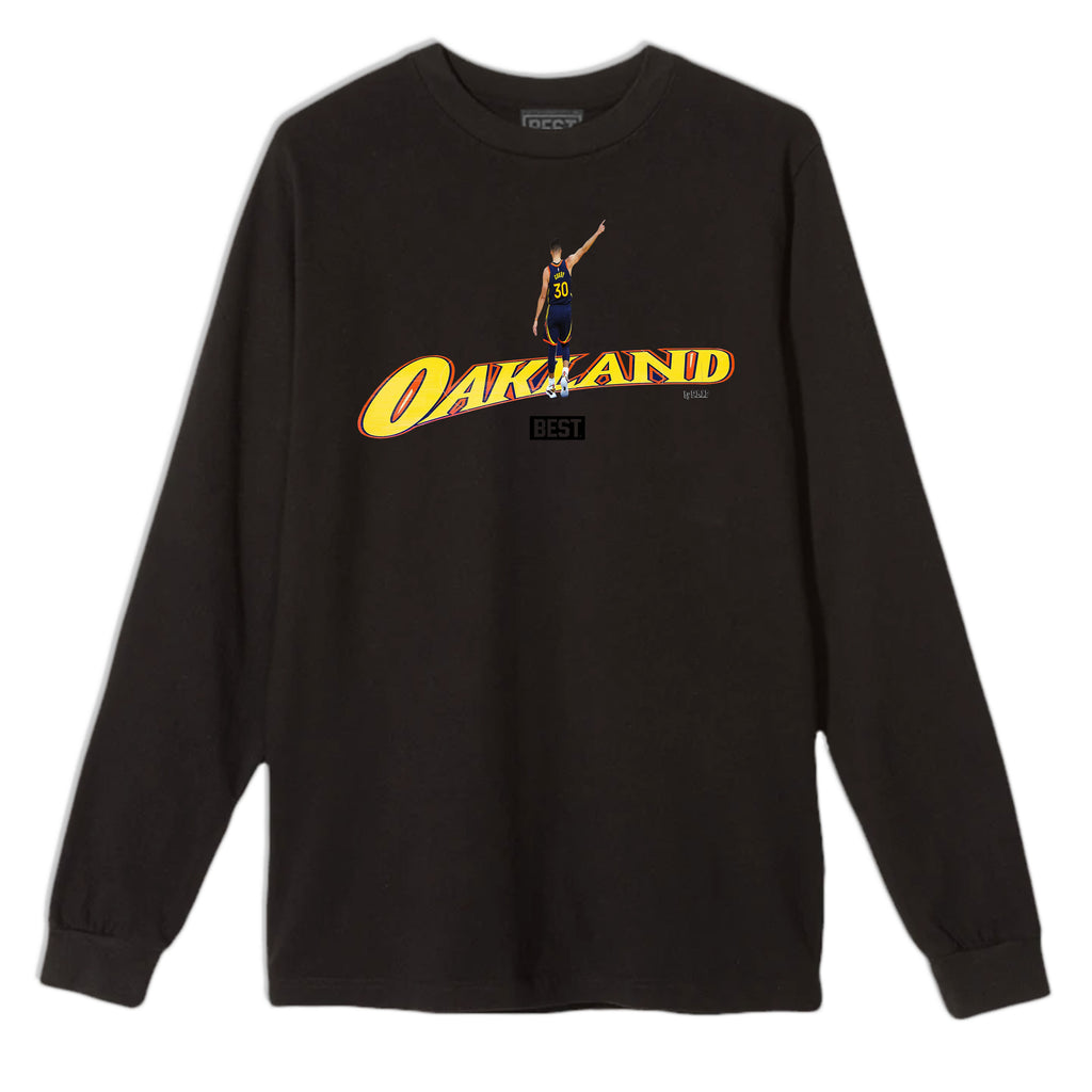 CENTER COURT SC OAKLAND LONG SLEEVE TEE BLACK
