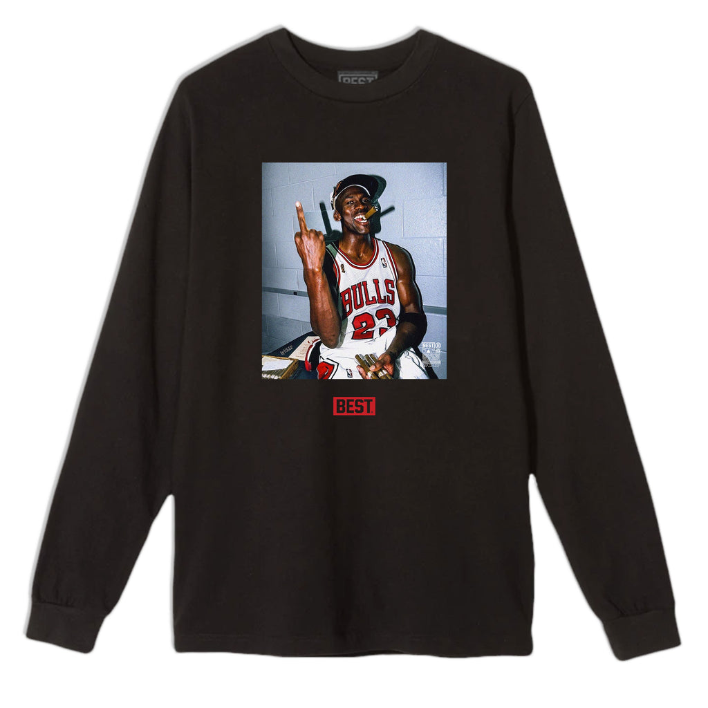 FUCK THE REST MJ LONG SLEEVE TEE BLACK