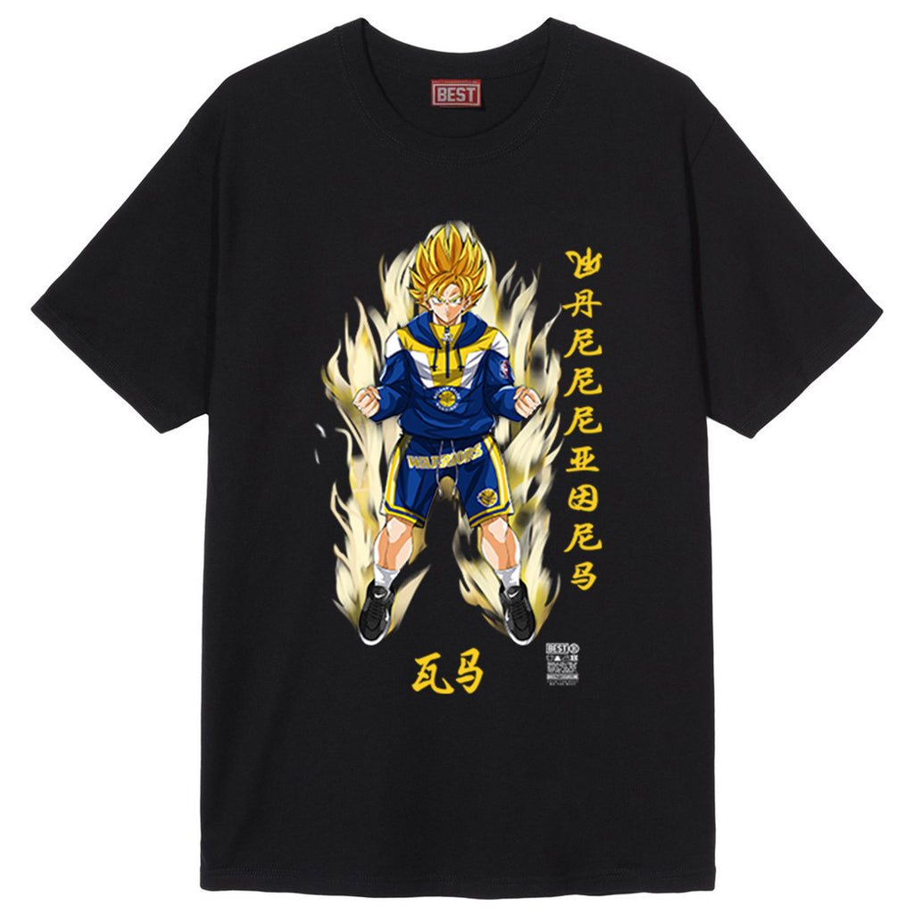 Golden State Goku Tee Black