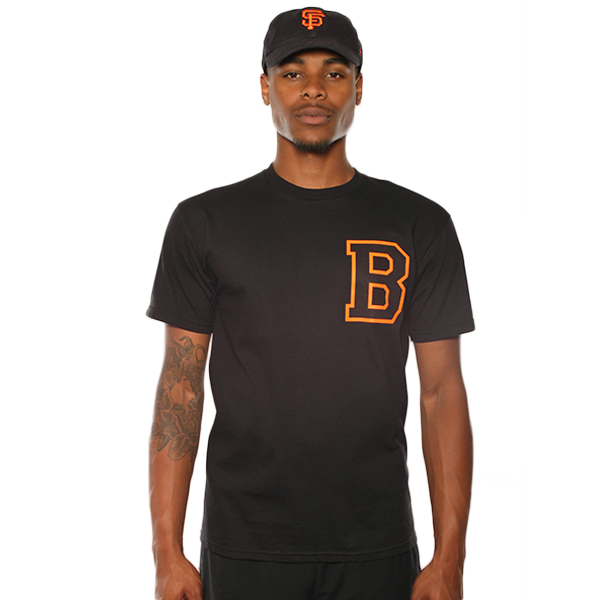 SF Letterman B Black Tee