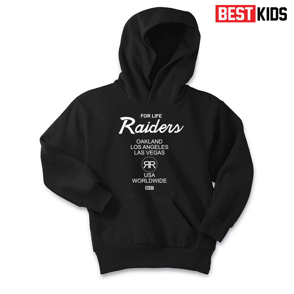 BEST KIDS RAIDER 4 LIFE TEE BLACK