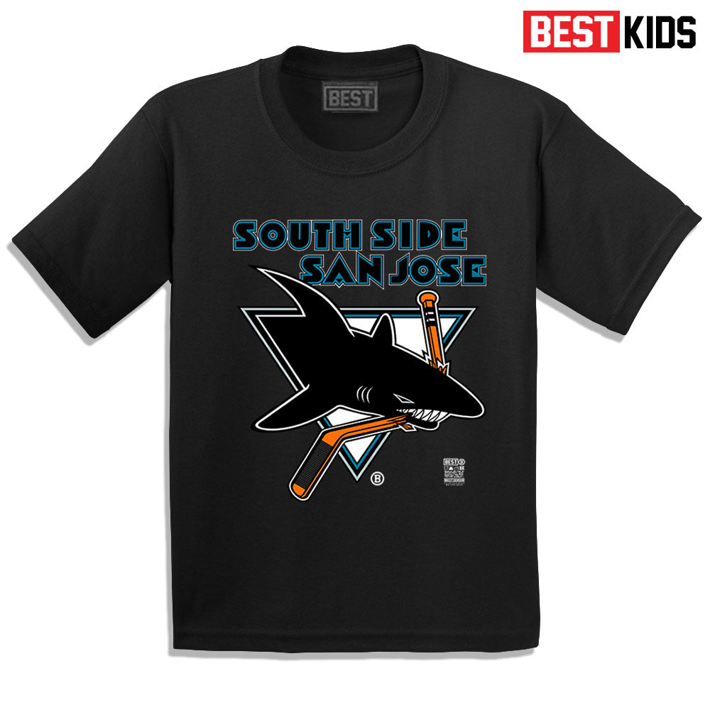 BEST KIDS SSSJ SHARKS TEE BLACK