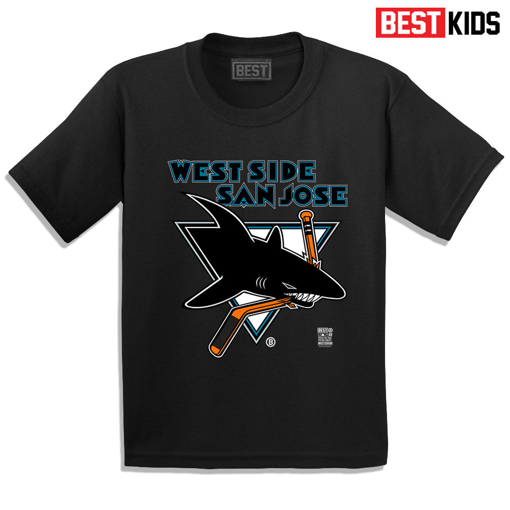 BEST KIDS WSSJ SHARKS TEE BLACK