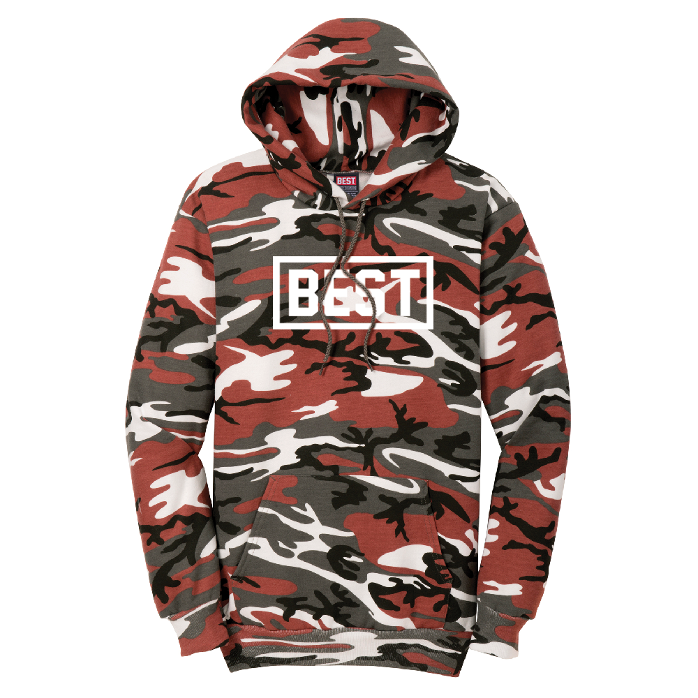 Best Outline Red Camo Hoodie