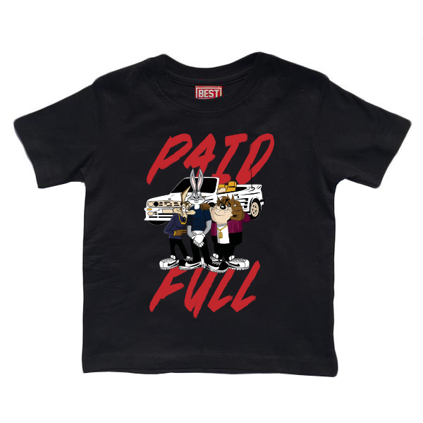 Paid Kids Black Tee