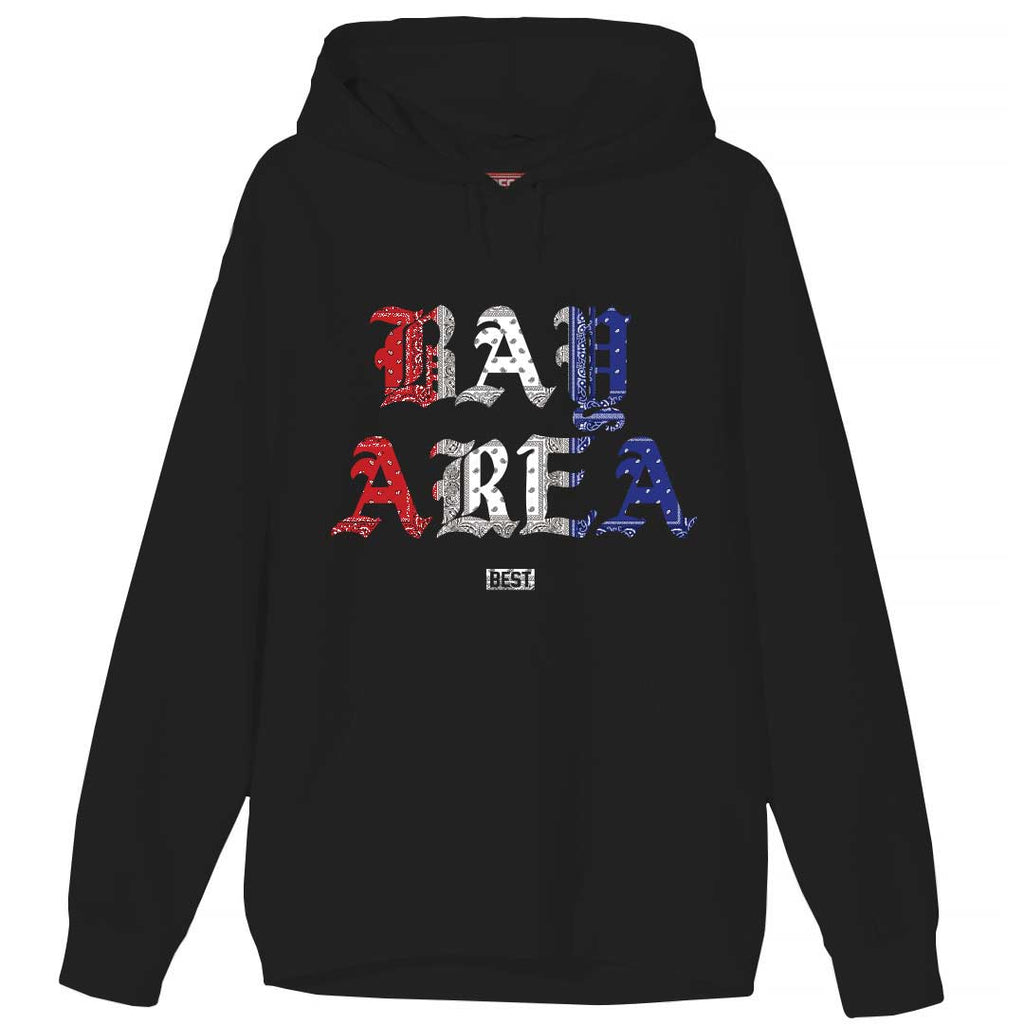 Red White and Blue Rag Bay Area Hoodie Black