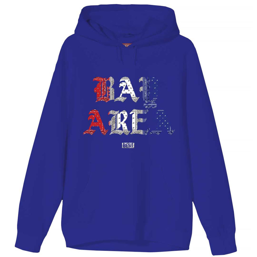 Red White and Blue Rag Bay Area Hoodie Blue