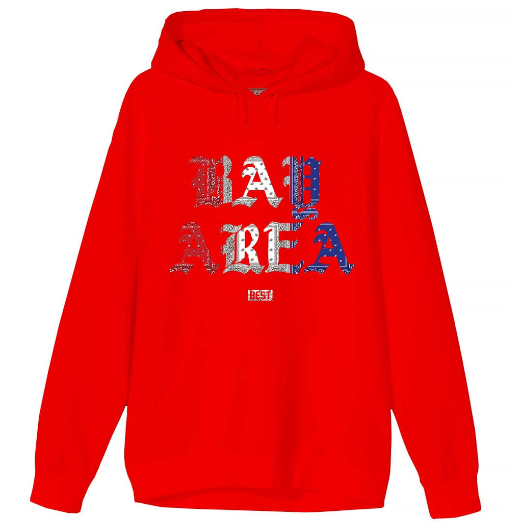 Red White and Blue Rag Bay Area Hoodie Red