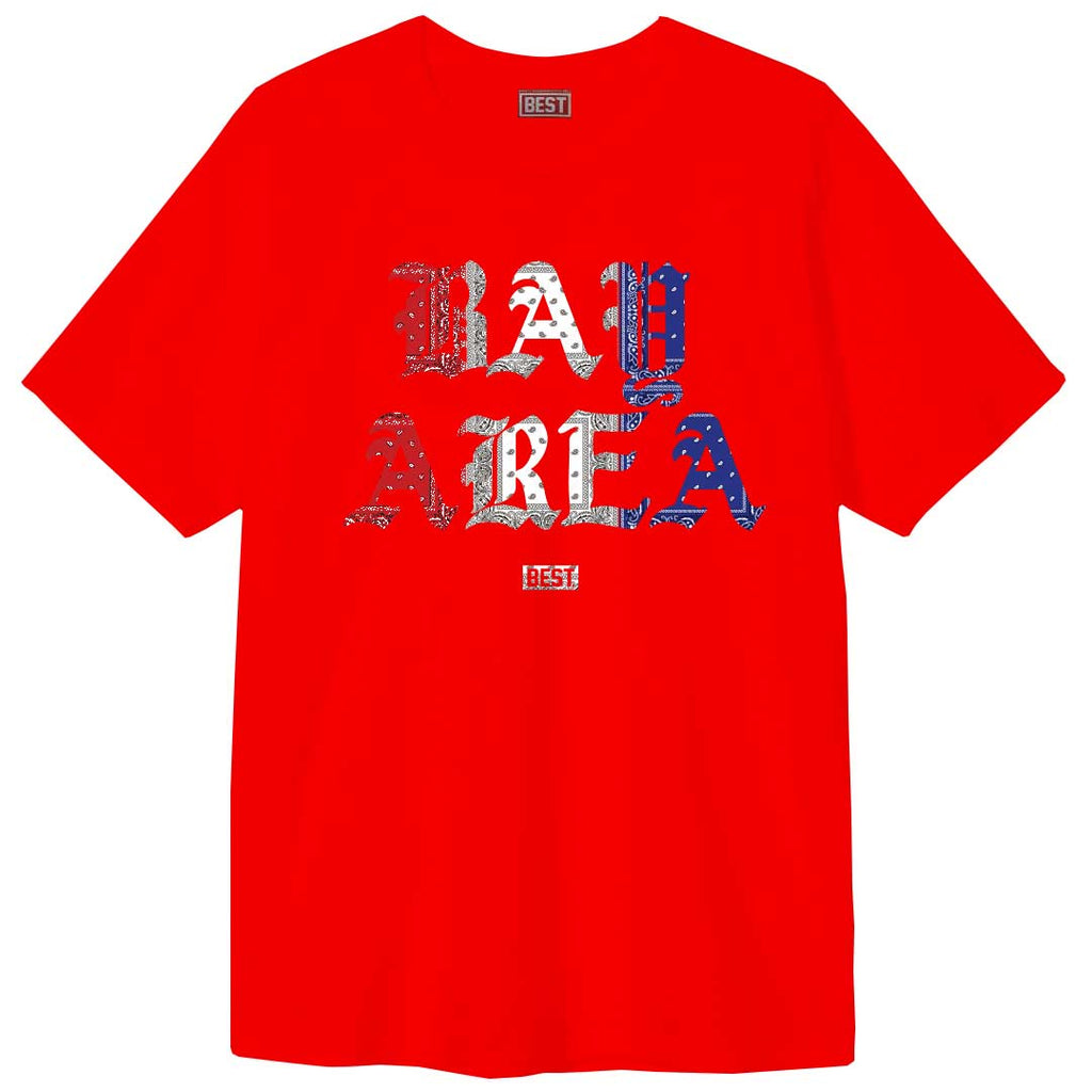 Red White and Blue Rag Bay Area Tee Red