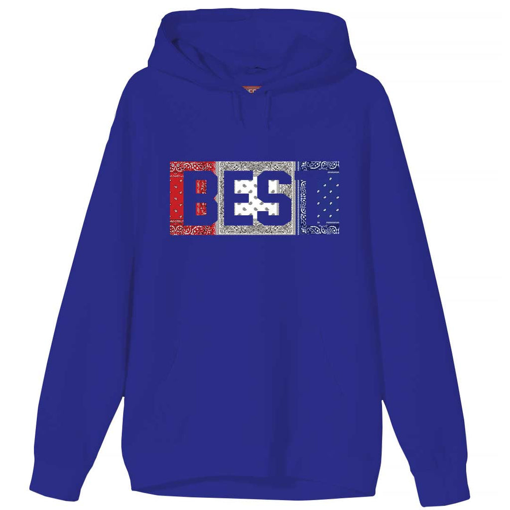 Red White and Blue Rag BEST Hoodie Blue