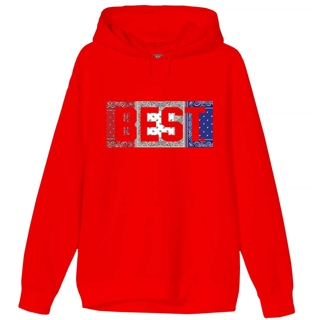 Red White and Blue Rag BEST Hoodie Red
