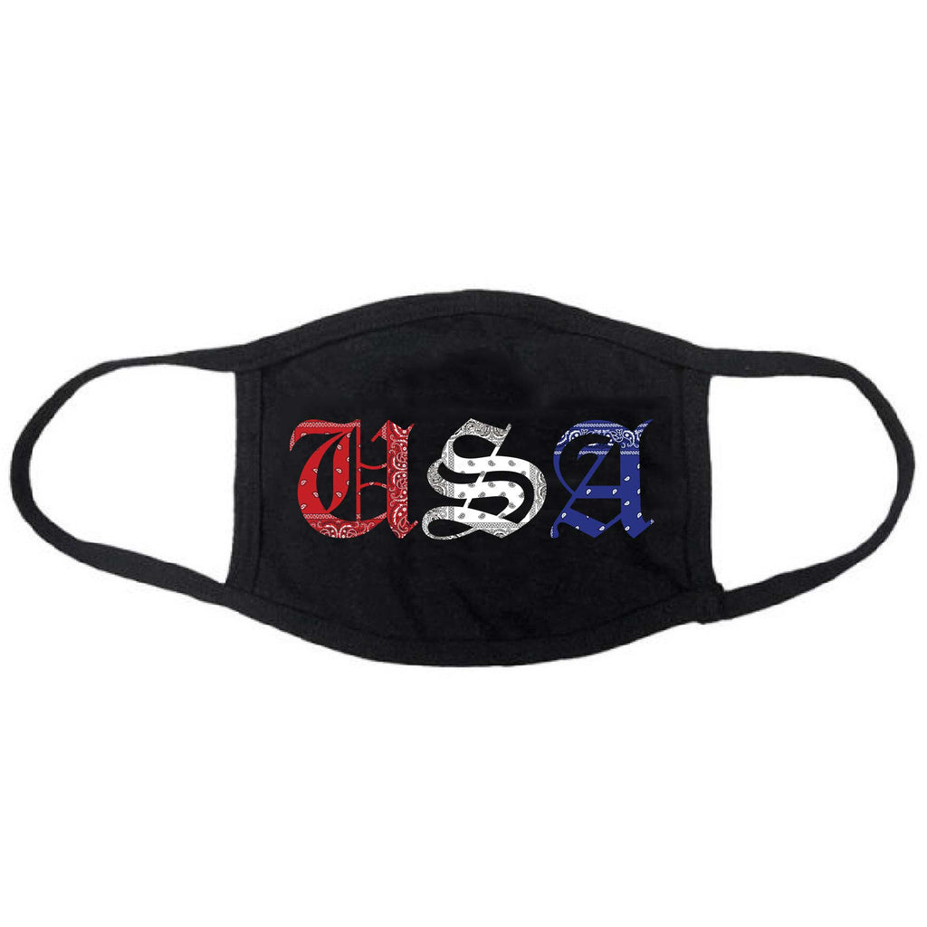 Red White and Blue Rag USA Facemask