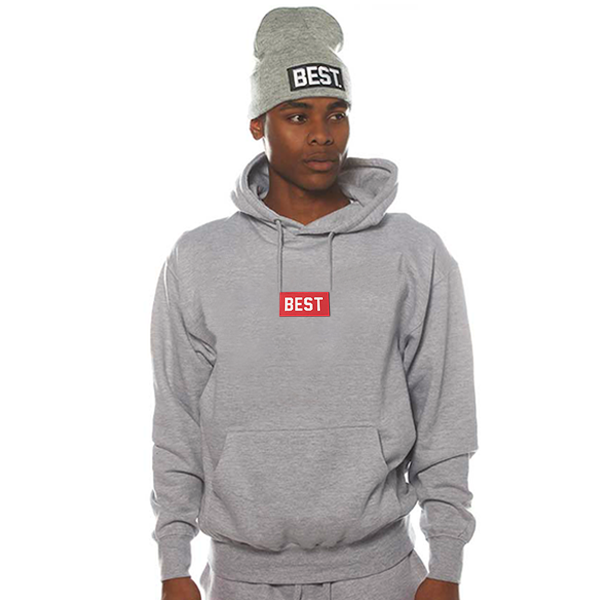 Red Best Box Grey Hoodie