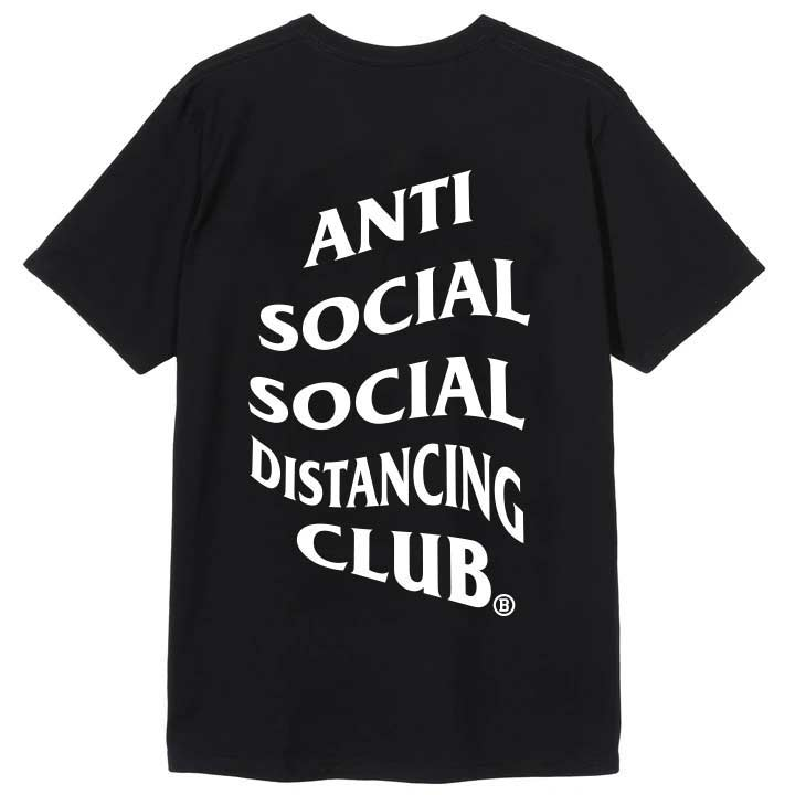 Anti Social Distancing Club Tee Black