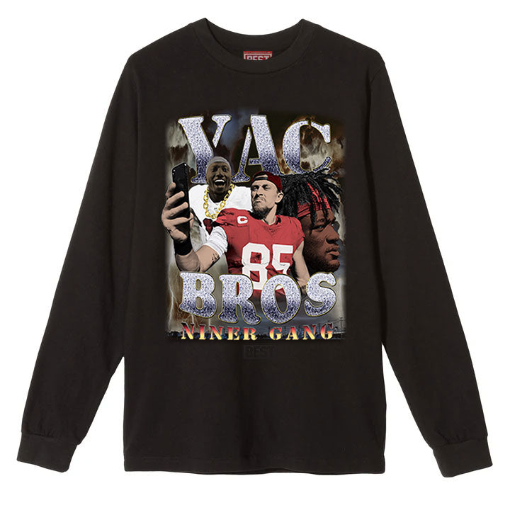 YAC BROS LONG SLEEVE TEE BLACK