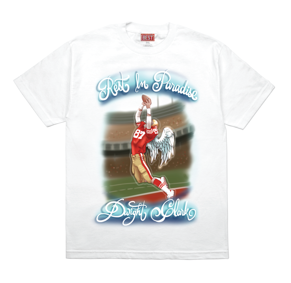 RIP Dwight Airbrush White Tee