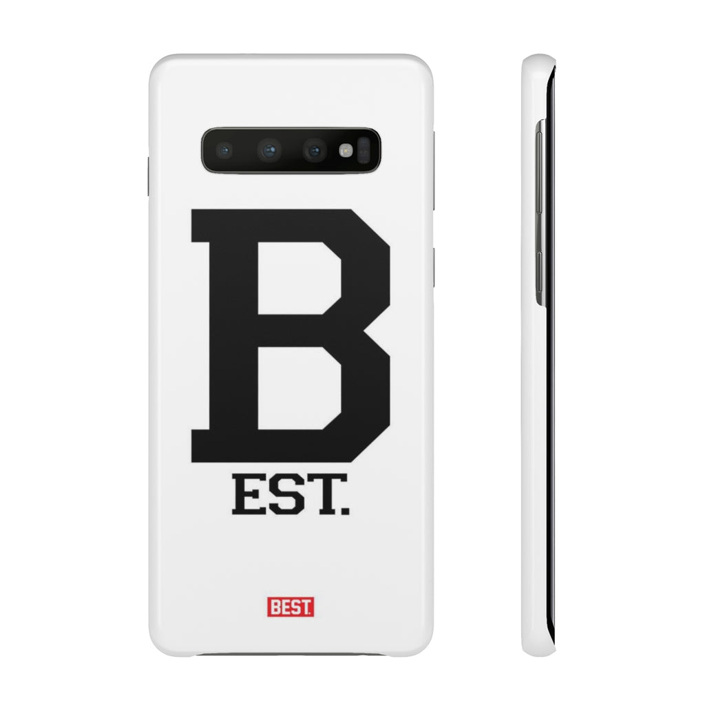 Letterman B White Galaxy Case