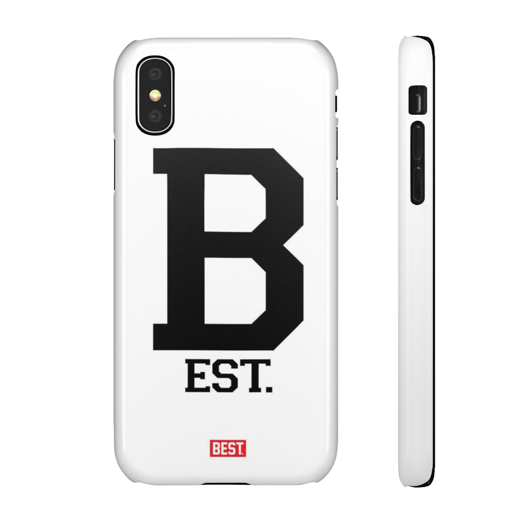 Letterman B White iPhone Case