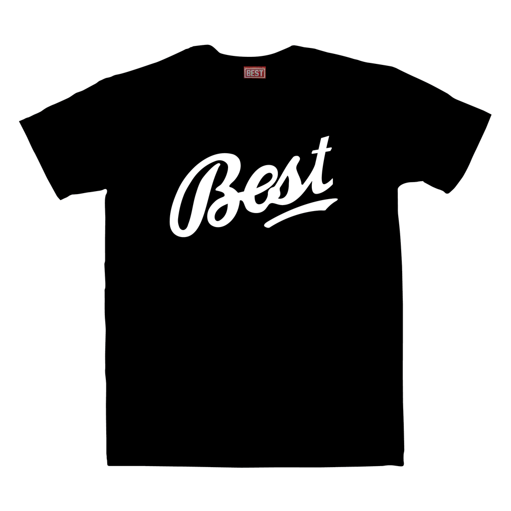 BEST Cursive Black Tee