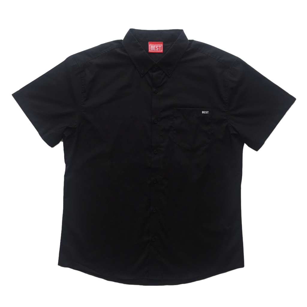 Best Shortsleeve Black Buttondown