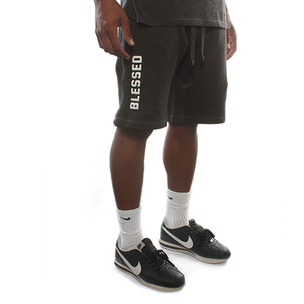 Blessed 2.0 Charcoal Sweatshorts