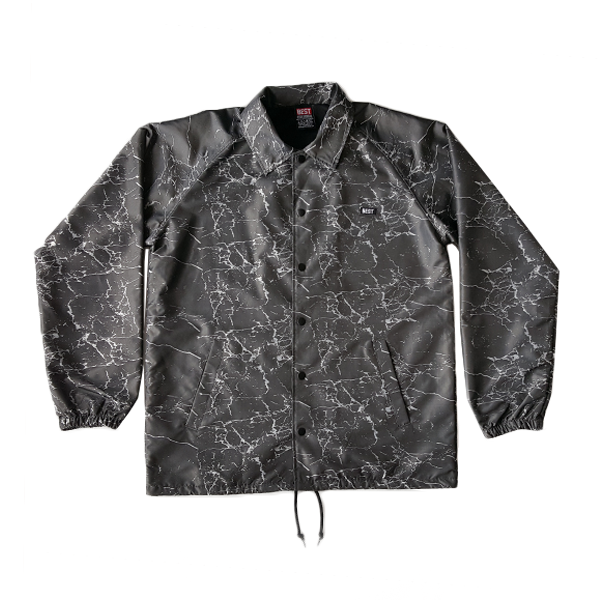 Charcoal Crackle Coach Jacket