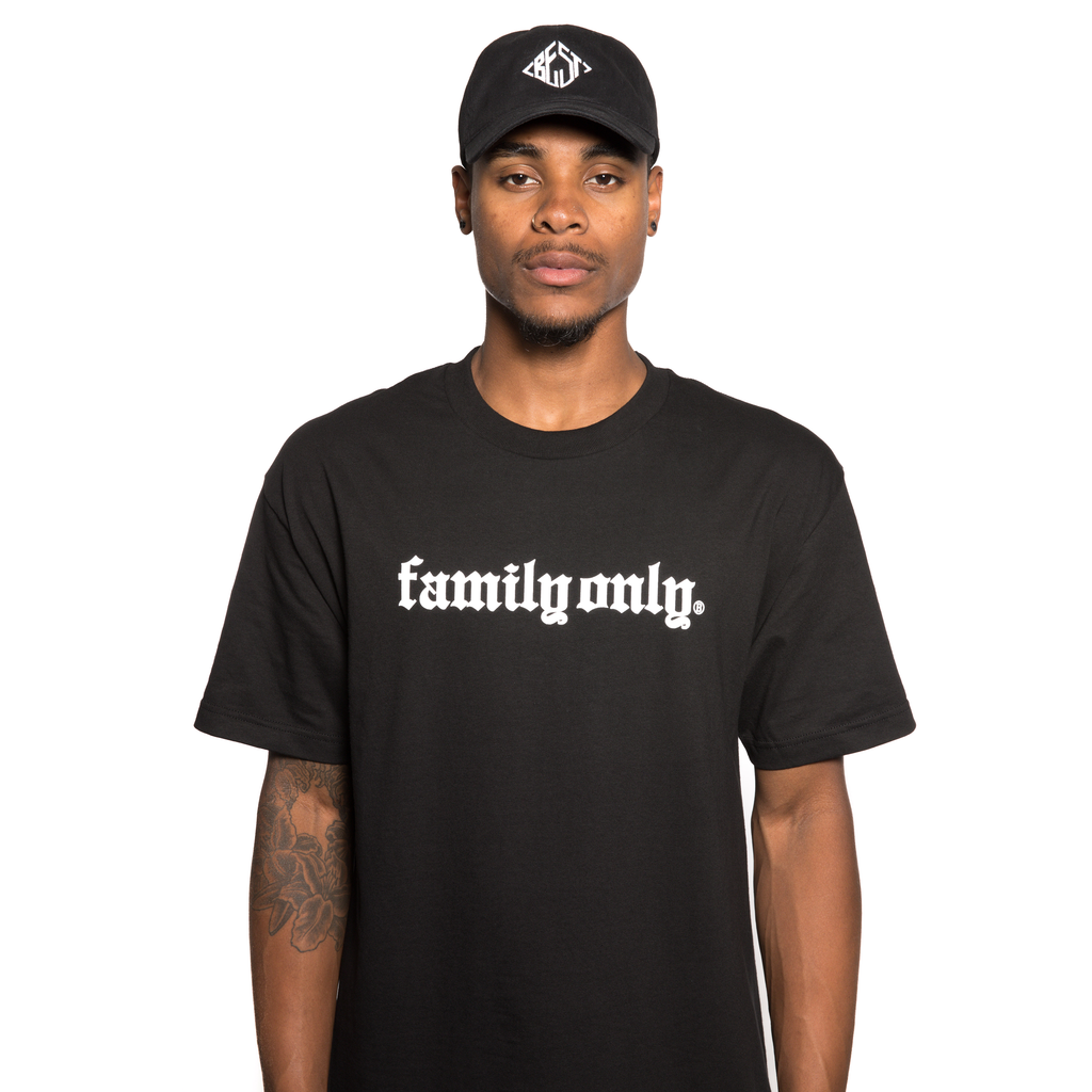 Family Only Black Tee