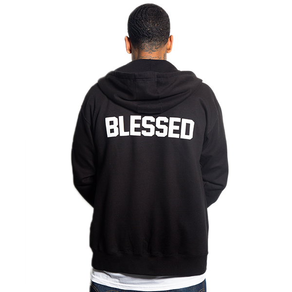 Blessed Hands Black Zip Up